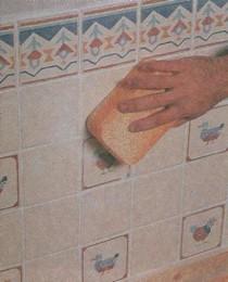 Очистка поверхности плитки