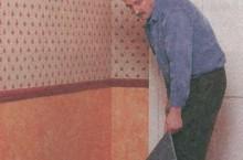 Укладка покрытия на основе из пеноматериала