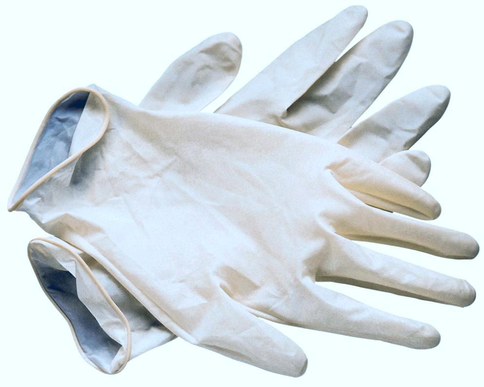Резиновые (латексные) перчатки. Где они используются?